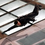 Ethan Hunt Falling From Side Of Building Wallpaper
