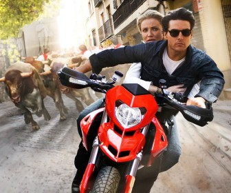 Tom And Cameron Motorcycle Chase Wallpaper