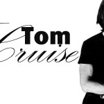 Tom Cruise Black And White With Name Wallpaper