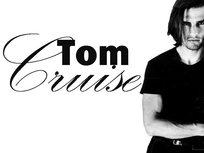 Tom Cruise Black And White With Name Wallpaper 800x600