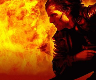 Tom Cruise Ethan Hunt Flames Wallpaper