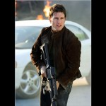 Tom Cruise Ethan Hunt With Machine Gun Wallpaper