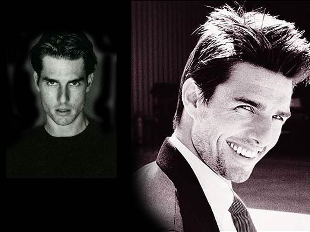 Tom Cruise Face Photo Collage Wallpaper 1024x768