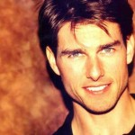 Tom Cruise Face Portrait Orange Background Wallpaper