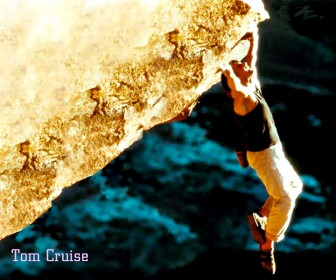 Tom Cruise Hanging From Rock Wallpaper