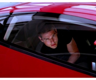 Tom cruise in red car minority report wallpaper