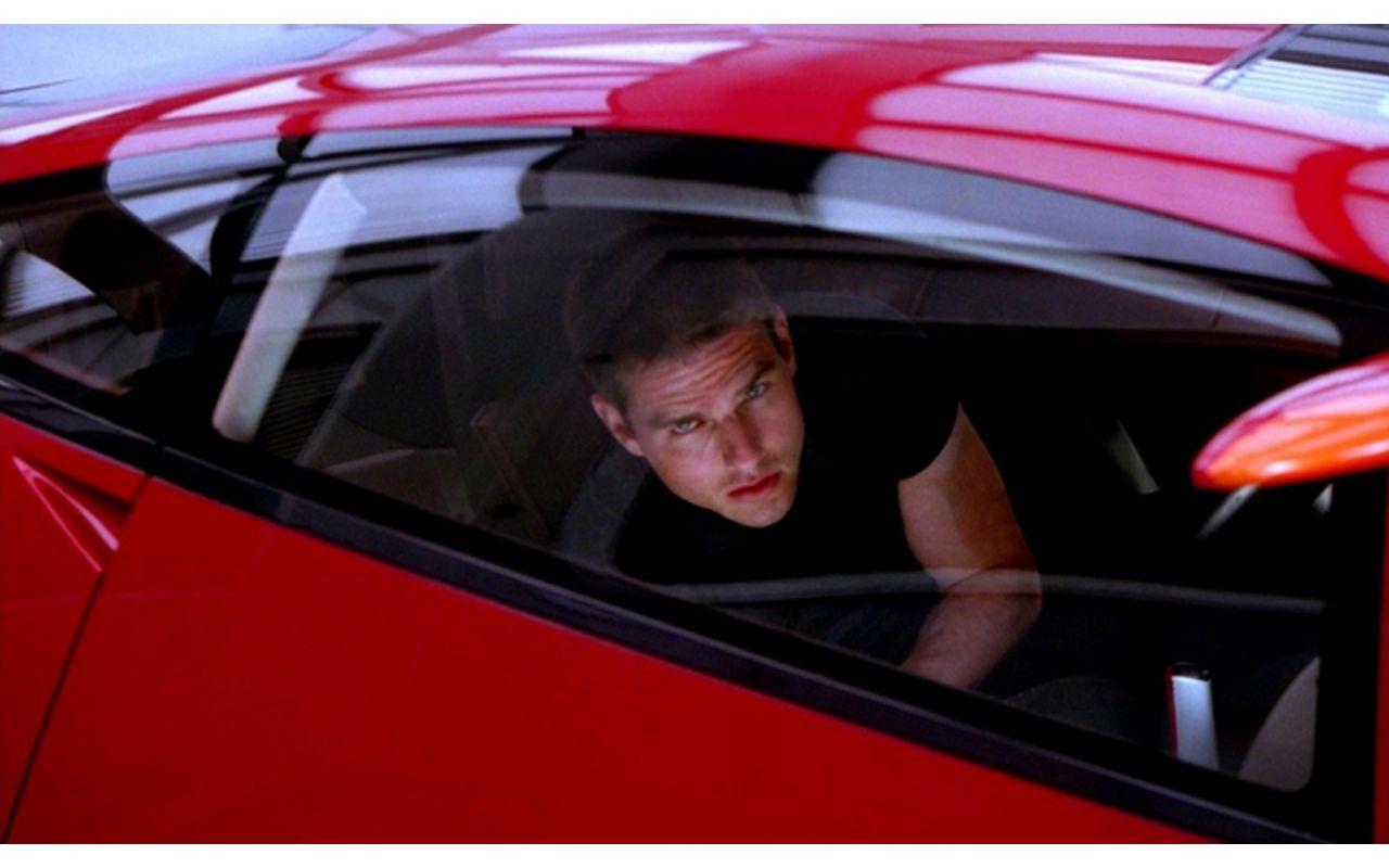 Tom Cruise In Red Car Minority Report Wallpaper 1280x800