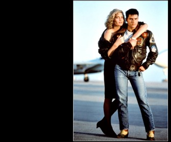 Tom Cruise Kelly Mcgillis Top Gun Wallpaper