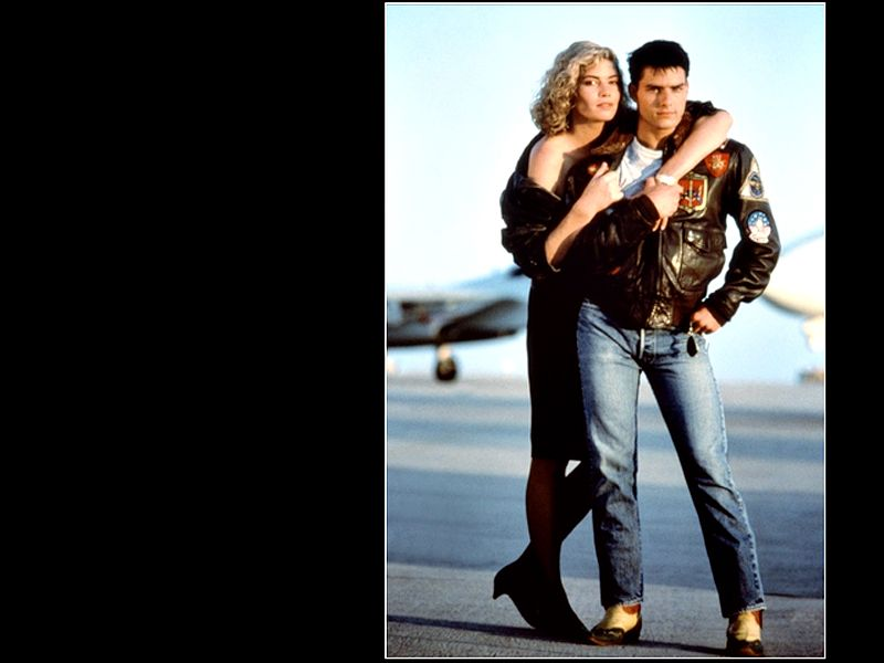 Tom Cruise Kelly Mcgillis Top Gun Wallpaper 800x600