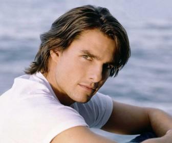 Tom Cruise Portrait Sea Background Wallpaper