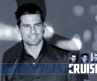 Tom Cruise Portrait With Face Collage Wallpaper