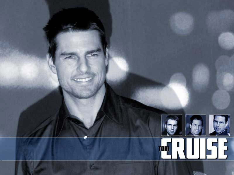 Tom Cruise Portrait With Face Collage Wallpaper 800x600