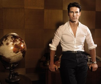 Tom Cruise Portrait With Globe Wallpaper