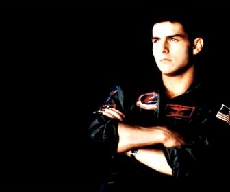 Tom Cruise Top Gun Portrait Wallpaper