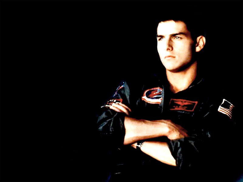 Tom Cruise Top Gun Portrait