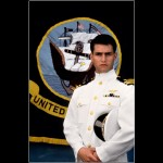Tom Cruise Top Gun White Uniform Portrait Wallpaper