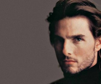 Tom Cruise With Beard Close Up Wallpaper